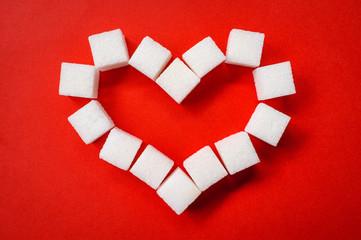 Heart Blood Sugar Concept