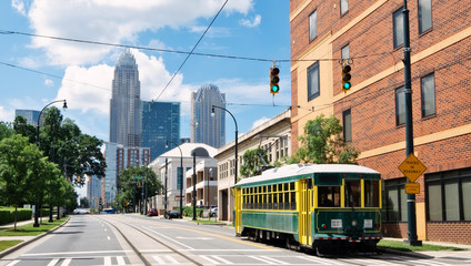 Charlotte Cable Car Wall mural