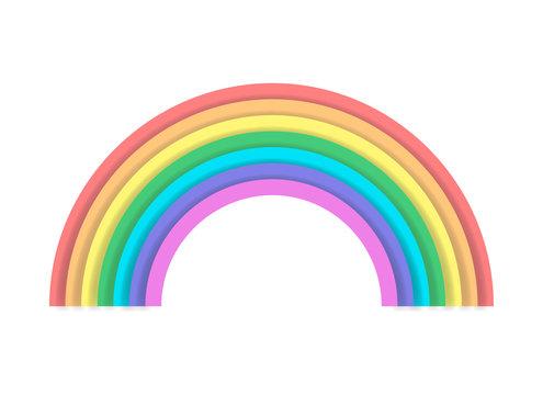 Rainbow color spectrum icon illustration logo