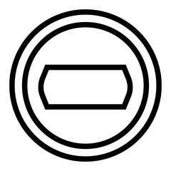 Camera objective line icon. Photo camera aperture vector illustration isolated on white. Lens outline style design, designed for web and app. Eps 10.