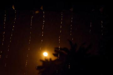 Black rain drops