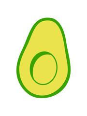 hälfte ohne stein aufgeschnitten halbe clipart avocado obst gemüse lecker hunger gesund comic cartoon ernährung gesund kochen essen design logo symbol