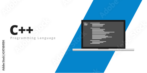 Learn to code C++ programming language with script code on
