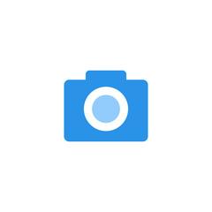 camera icon vector blue monochrome color