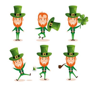 group of leprechauns saint patrick characters