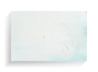 White canvas frame on a white background with soft shadow.