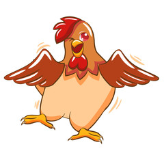 chicken clipart design