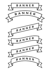 set of  ribbon banner icon
