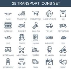 25 transport icons