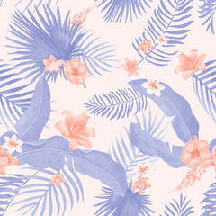 Tropical foliage illustration