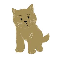 Cute cat vector design