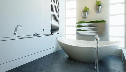 Modern Bathroom Adaptation (illustration)