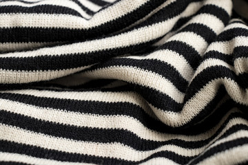 Texture of striped cotton fabric close up backgrounds