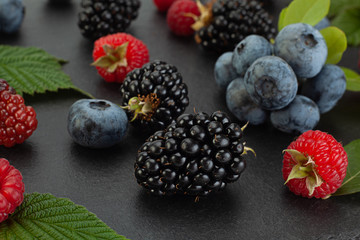Mix berry with leaf