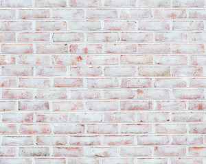 Rustic whitewashed brick wall texture