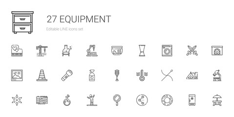 equipment icons set