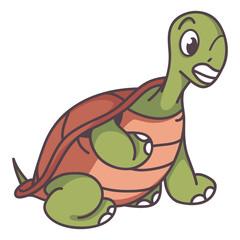 sitting turtle cartoon
