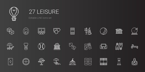 leisure icons set