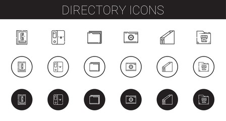 directory icons set