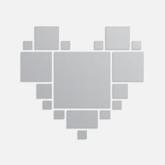 Collage love heart seventeen frames, photos, parts
