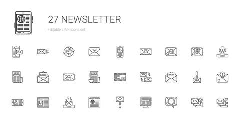 newsletter icons set