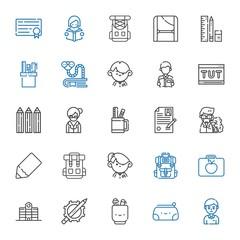 student icons set