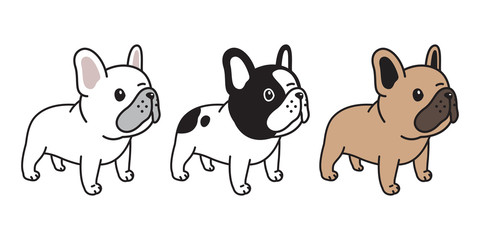 dog vector french bulldog icon character cartoon puppy breed logo illustration doodle