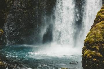 Gluggafoss (Merkjárfoss) Wasserfall in Island