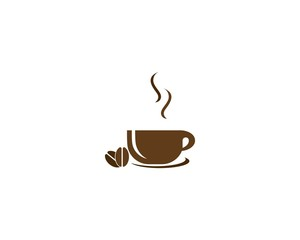 Coffee cup icon vector template