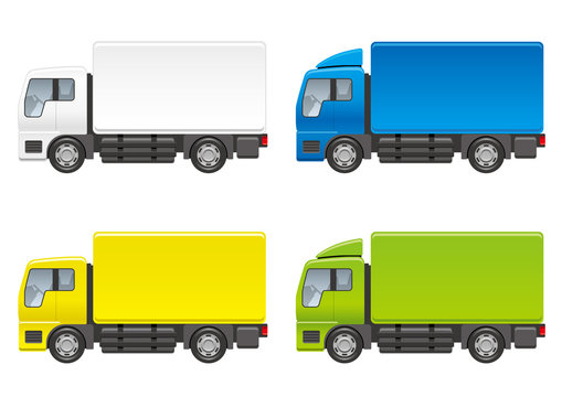 トラックのイラストセット