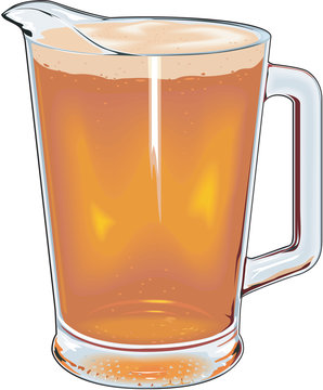 Pitcher of Beer Vector Illustration