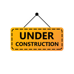 Under Construction Sign. Under construction website page