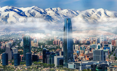 Wall Mural - Santiago Chile cityscape