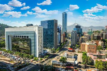 Fototapete - Santiago Chile cityscape