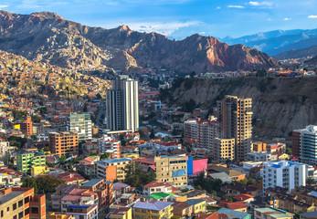 Fototapete - Cityscape of La Paz in Bolivia