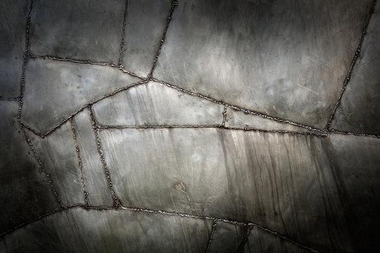 Rough welded metal texture background