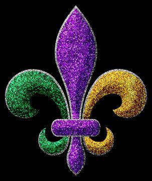Fleur De Lis Mardi Gras Karneval Fasching Party