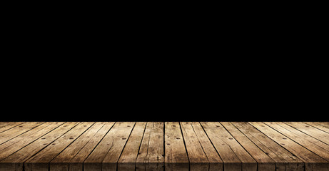 Old dark wooden planks background