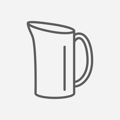 Water jug icon line symbol. Isolated vector illustration of  icon sign concept for your web site mobile app logo UI design.