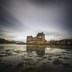 Eilean Donan castle on the shore of Loch Duich. Highlands, Scotland.