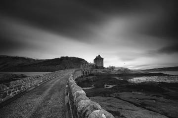 Eilean Donan castle on the shore of Loch Duich, Scotland.