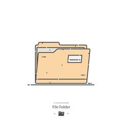 File folder - Line color icon