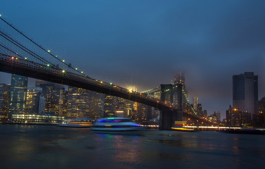Wall Mural - Night view of Manhattan skyline