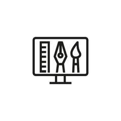 Graphic design line icon