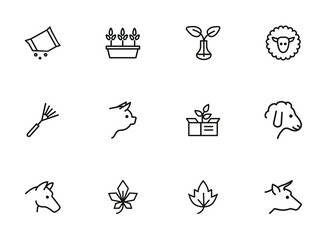 Household and nature icons
