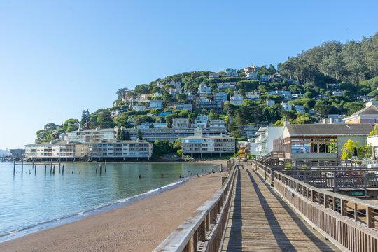 wooden pier of Sausalito near San Francisco,CA