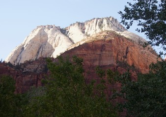 White Peaks Above Zion National Park