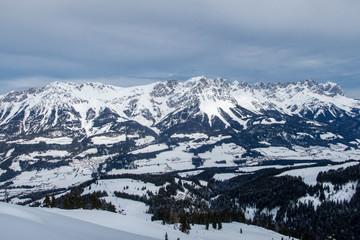Panorama des wilden Kaiser in Österreich