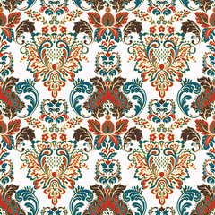 Foto auf Acrylglas Marokkanische Fliesen Vintage floral seamless patten. Classic Baroque wallpaper. seamless vector background