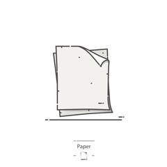 White paper - Line color icon